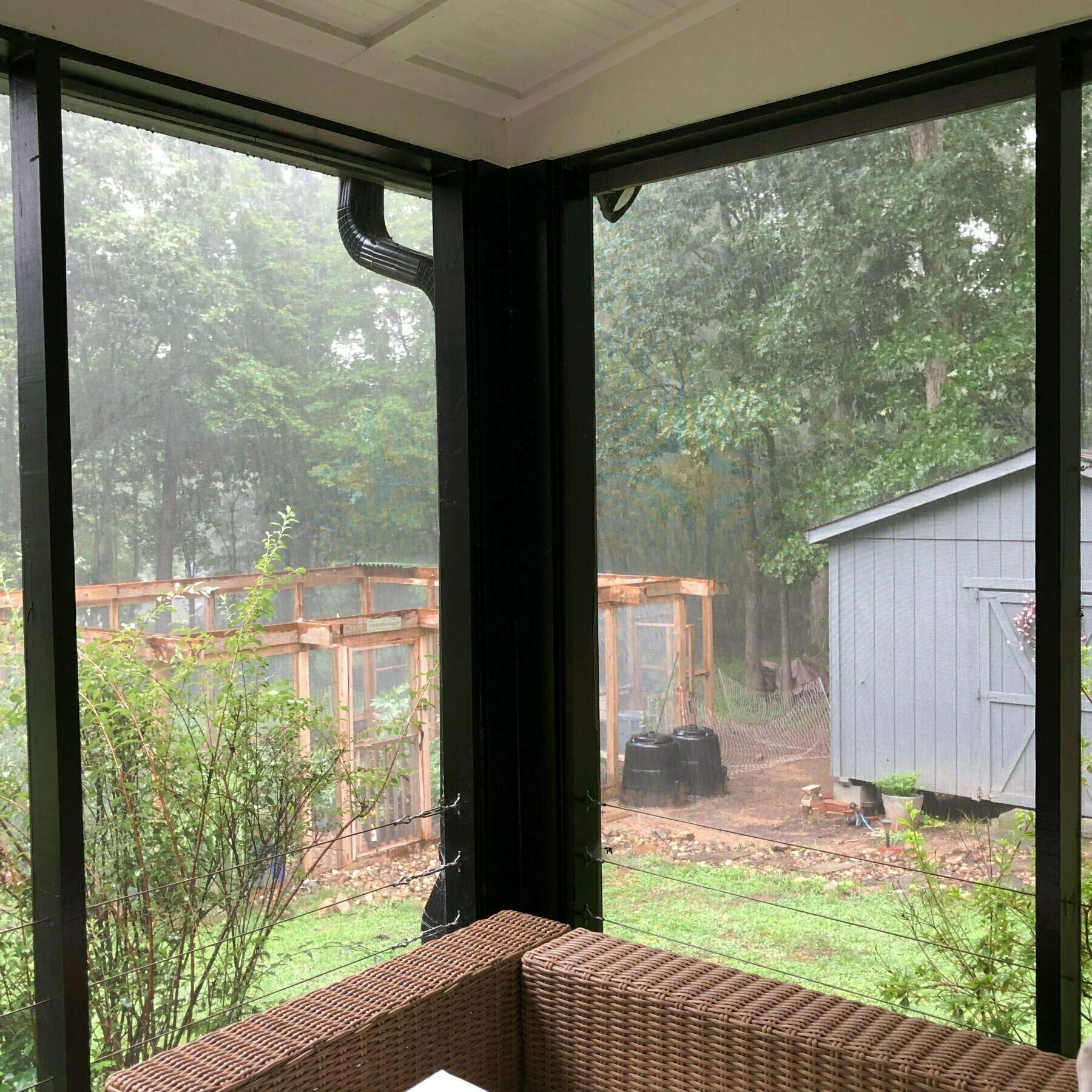 Rain storm from back porch